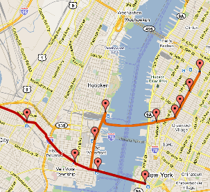 New Jersey Path Map PATH: Port Authority Trans Hudson Trains between New York and New  New Jersey Path Map
